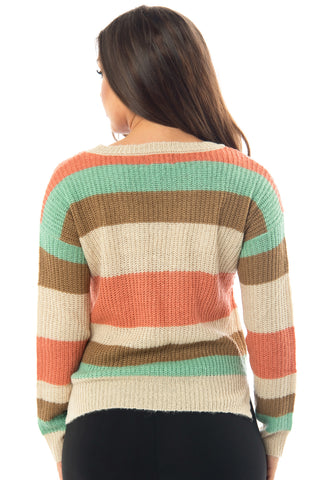 Jordan Striped Sweater - Fashion Effect Store  - 2