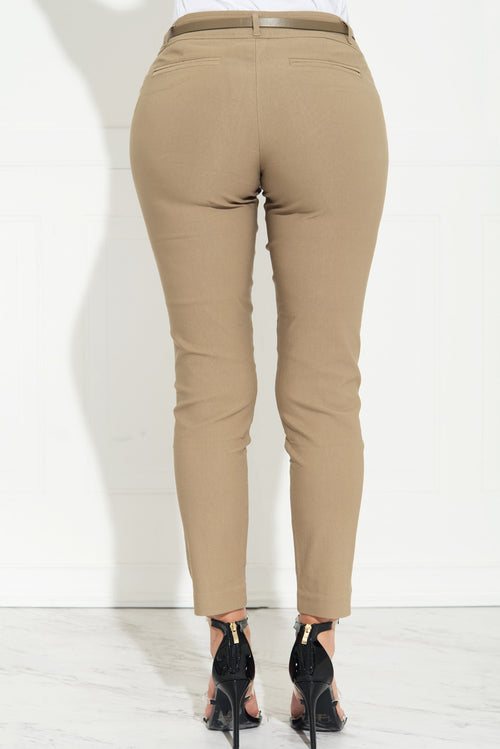 Get Down To Business Pants Khaki- RESTOCKED