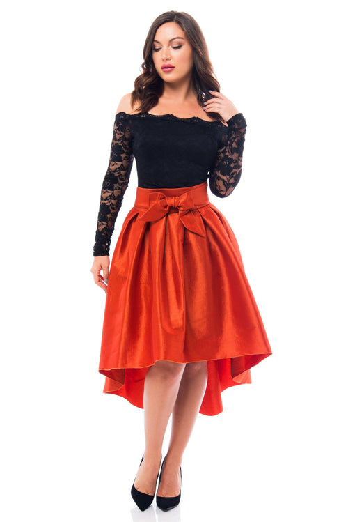 Drop Dead Gorgeous Rust Skirt - Fashion Effect Store  - 1