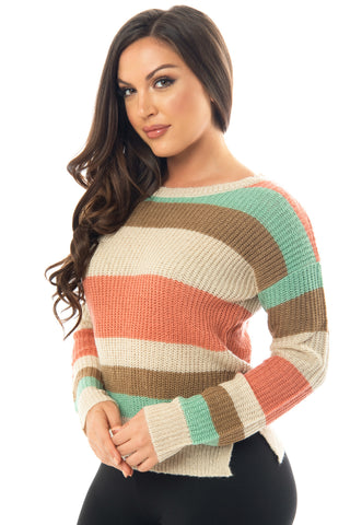 Jordan Striped Sweater - Fashion Effect Store  - 1