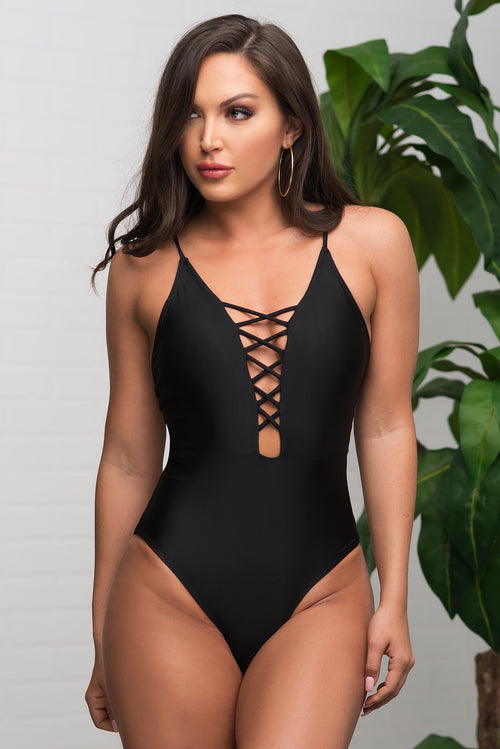 b12d439589291 Infinite Cove One Piece Swimsuit - Black