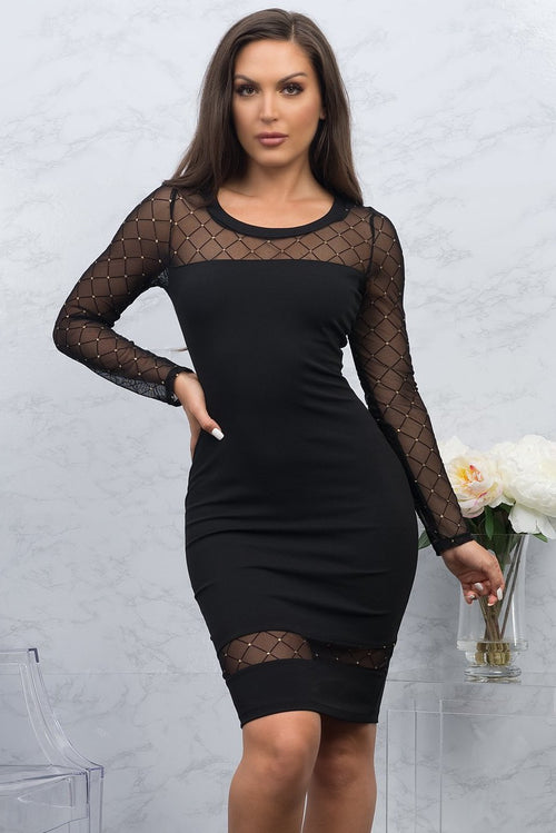 Iris Mini Dress - Black