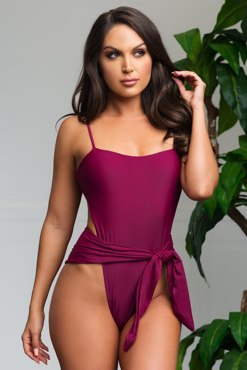 Blue Lagoon One Piece Swimsuit - Burgundy