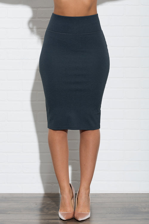 Andy Pencil Skirt - Grey
