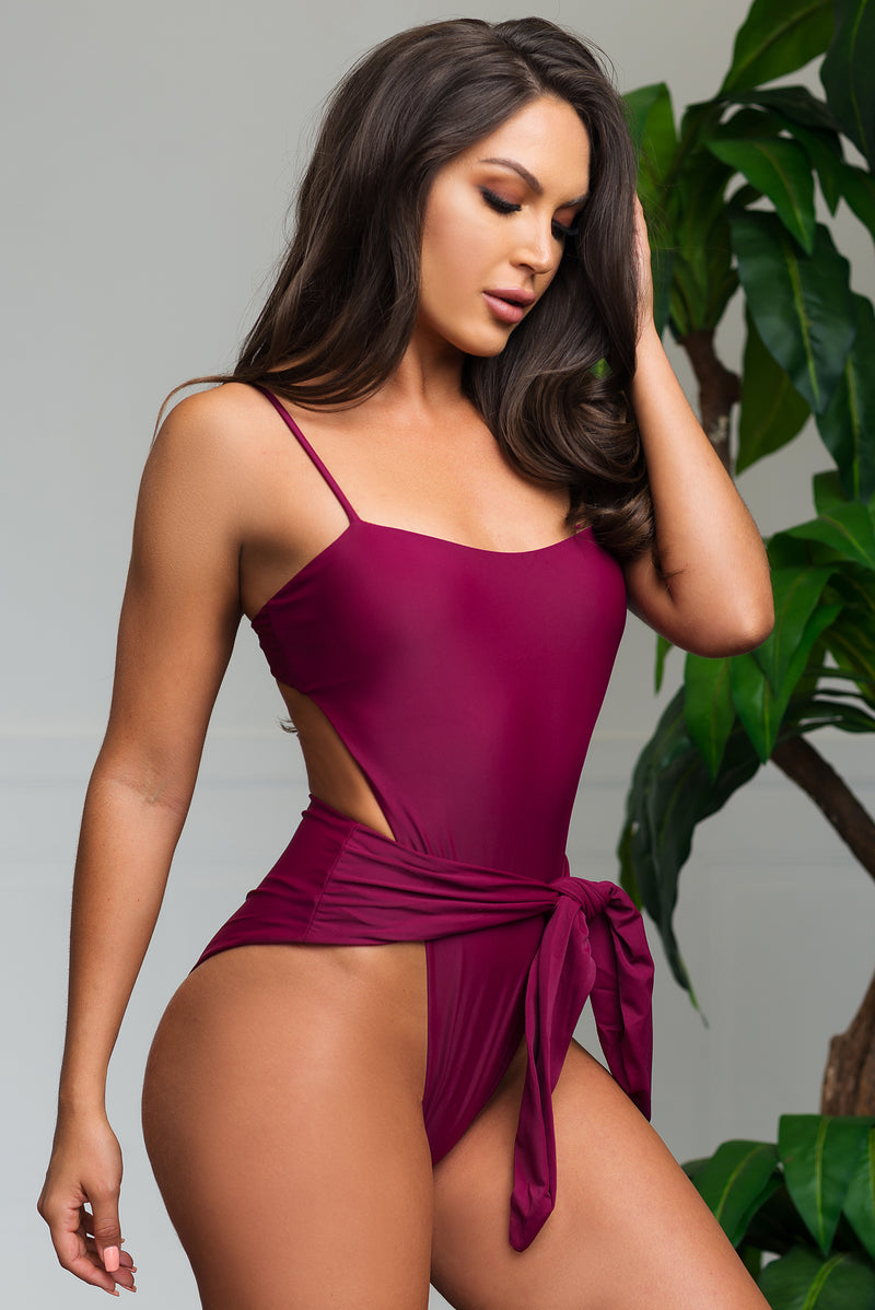 Blue Lagoon One Piece Swimsuit  Burgundy
