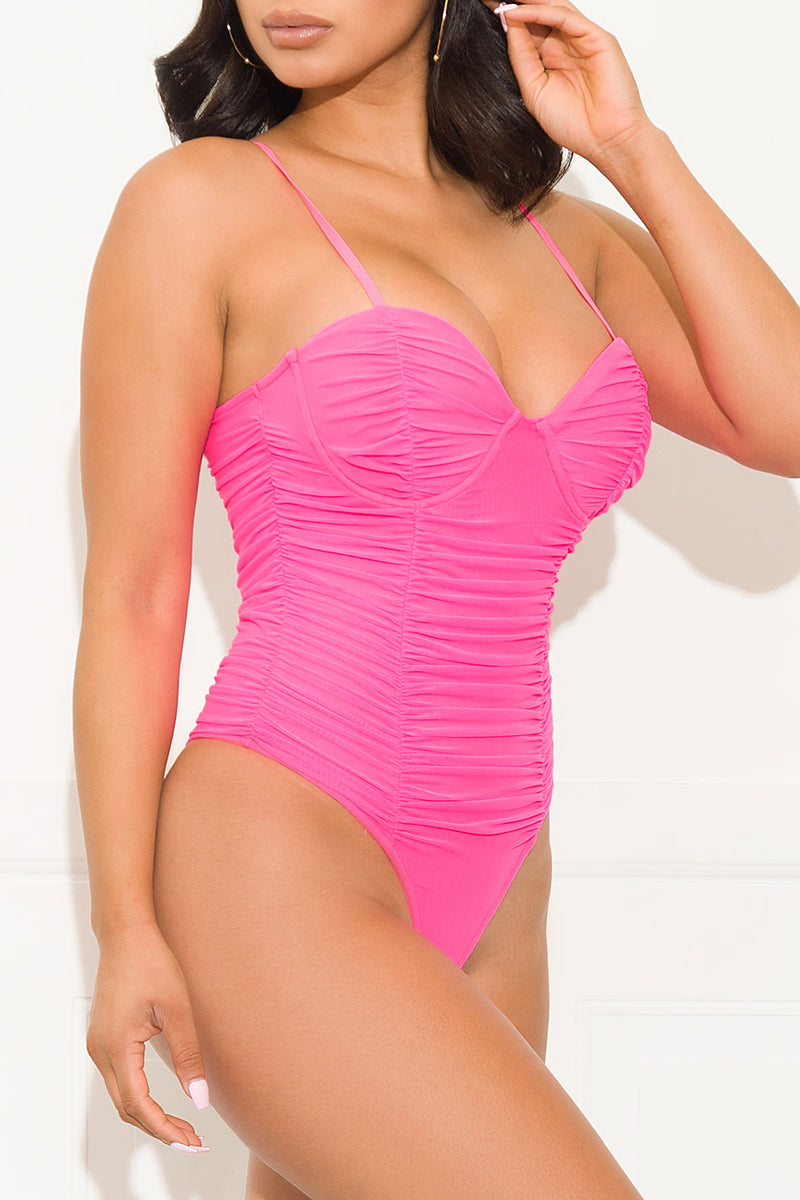 Feeling Special Bodysuit Hot Pink