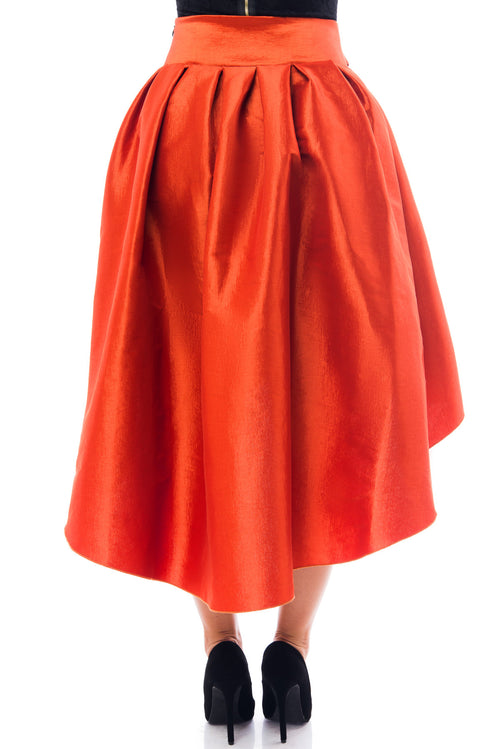 Drop Dead Gorgeous Rust Skirt - Fashion Effect Store  - 2