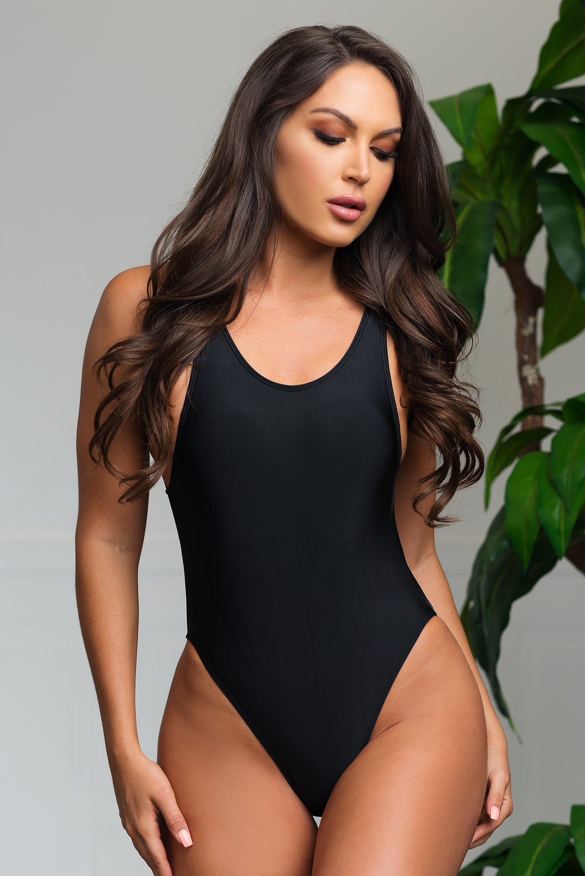 Hidden Beach One Piece Swimsuit - Black