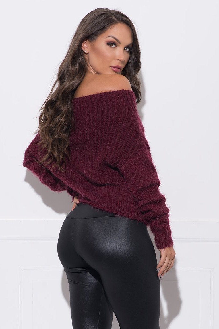 Piper Sweater - Burgundy