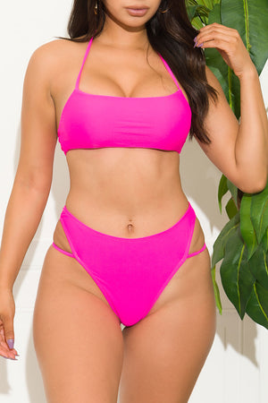 Viljandi Beach Two Piece Swimsuit Hot Pink