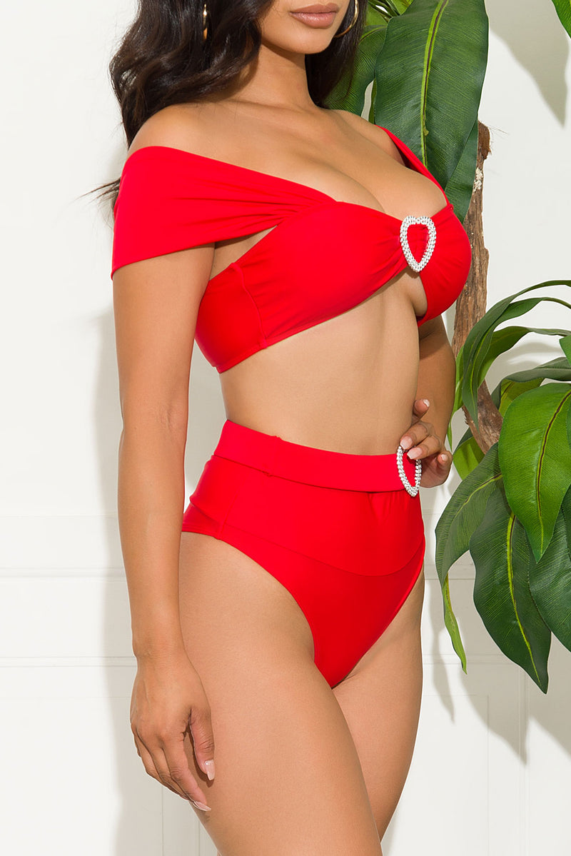 Punta Cana Two Piece Swimsuit Red