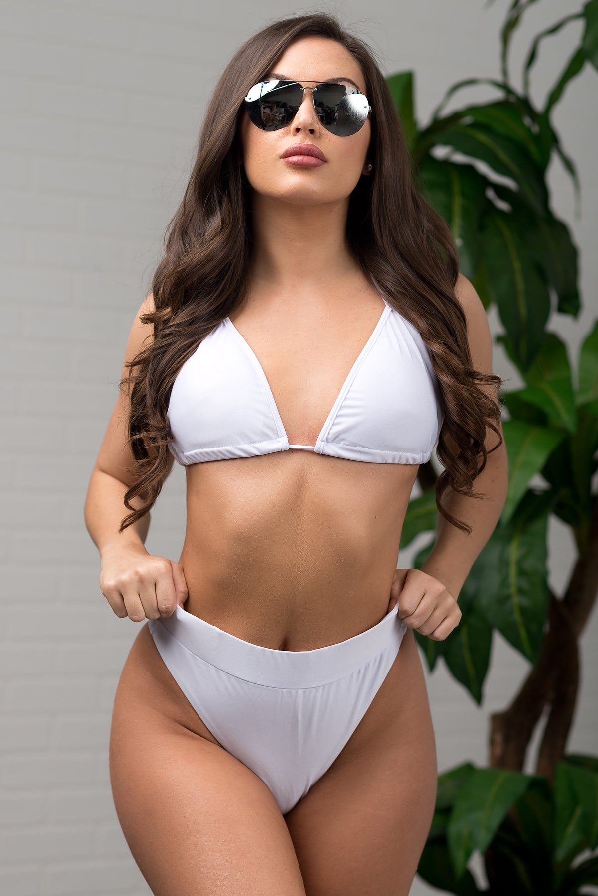Sandy Cliffs 3 Piece Swimsuit - White
