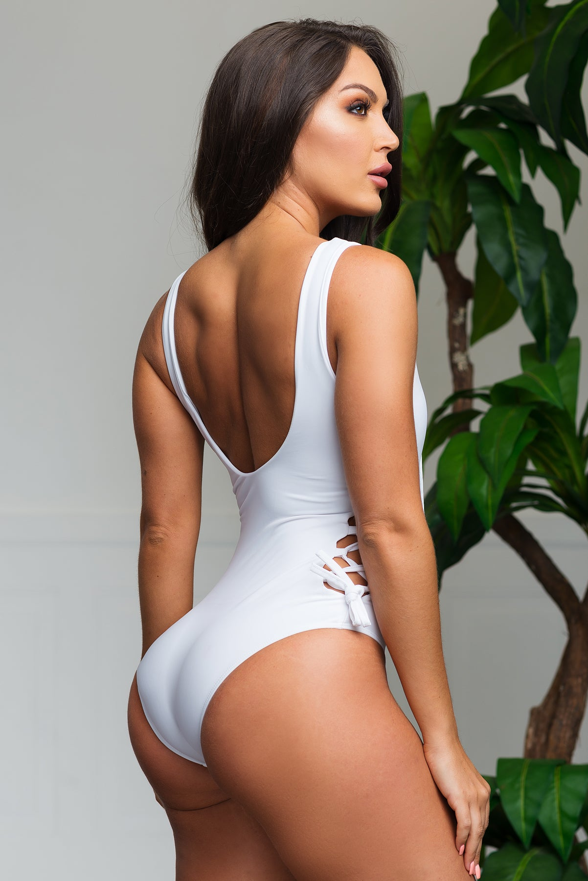 Blown Away One Piece Swimsuit - White