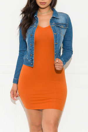 Rule Breaker Mini Dress Rust