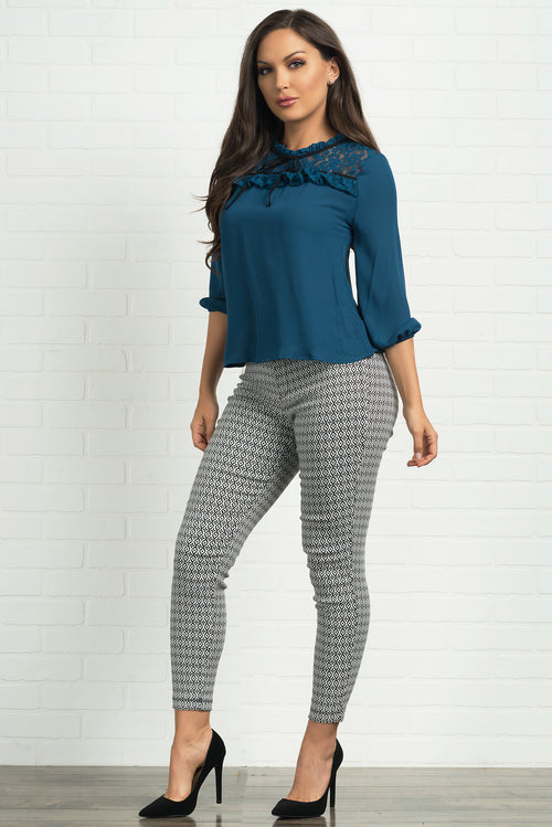 Nadya Blouse - Teal