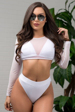 Sandy Cliffs 3 Piece Swimsuit  White