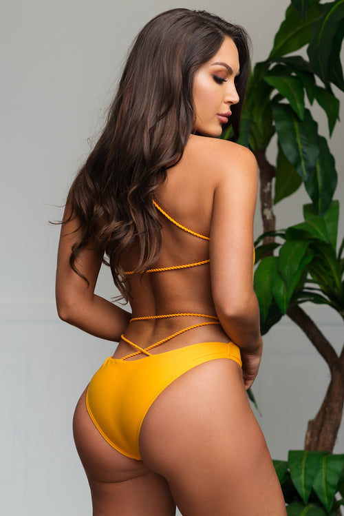 Gold Coast One Piece Swimsuit - Yellow