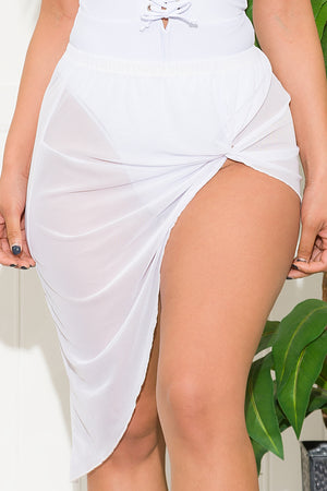Vacay Mood Skirt Cover Up White