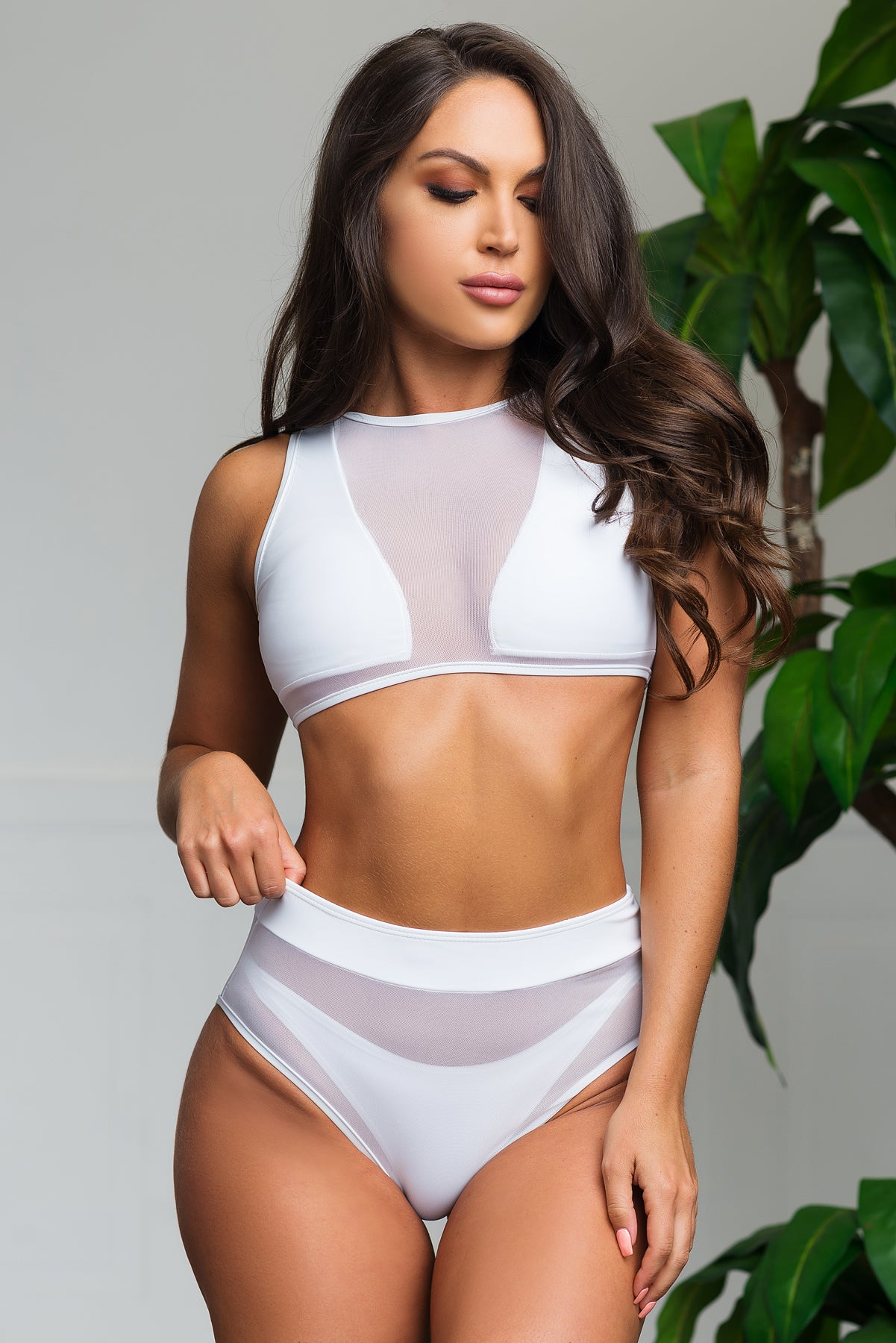 Nosara Beach Two Piece Swimsuit - White