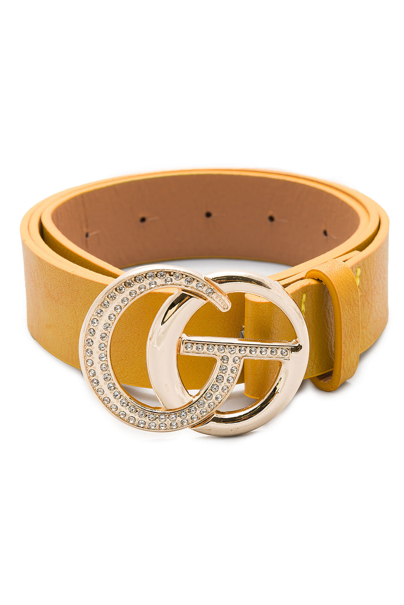 Obsession Belt Yellow Rhinestones