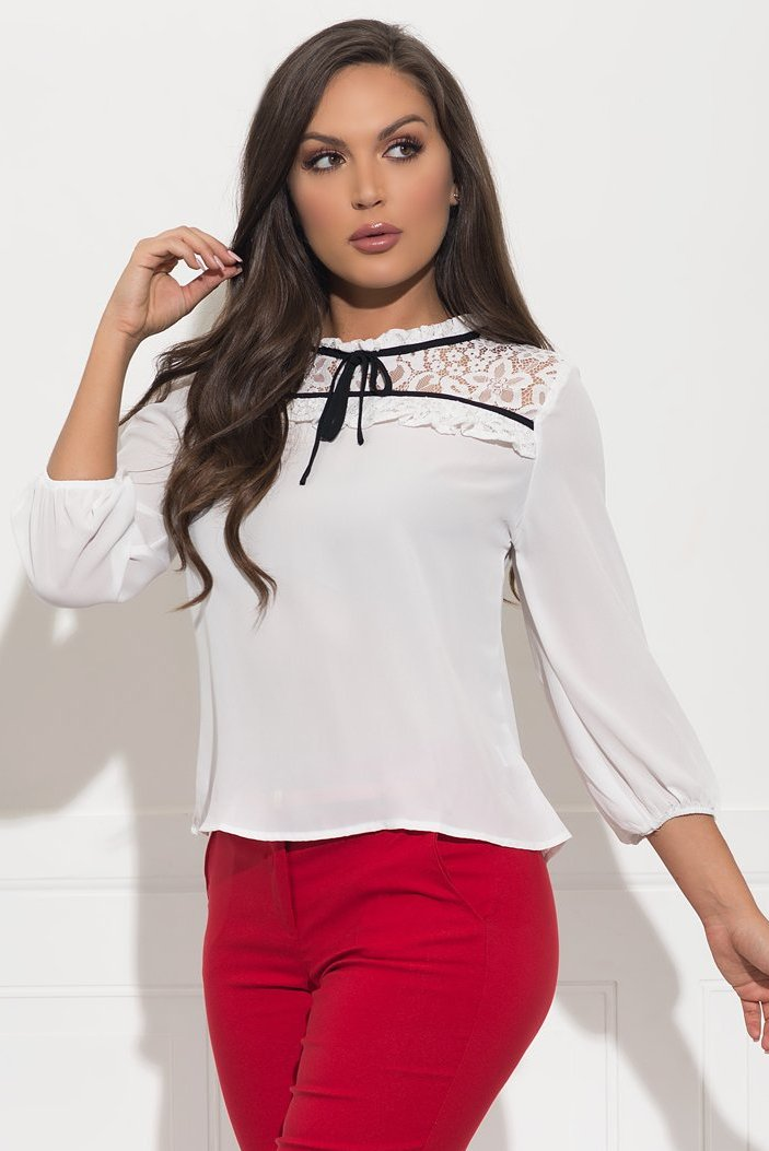 Nadya Blouse - White