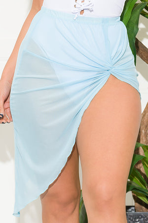 Vacay Mood Skirt Cover Up Sky Blue