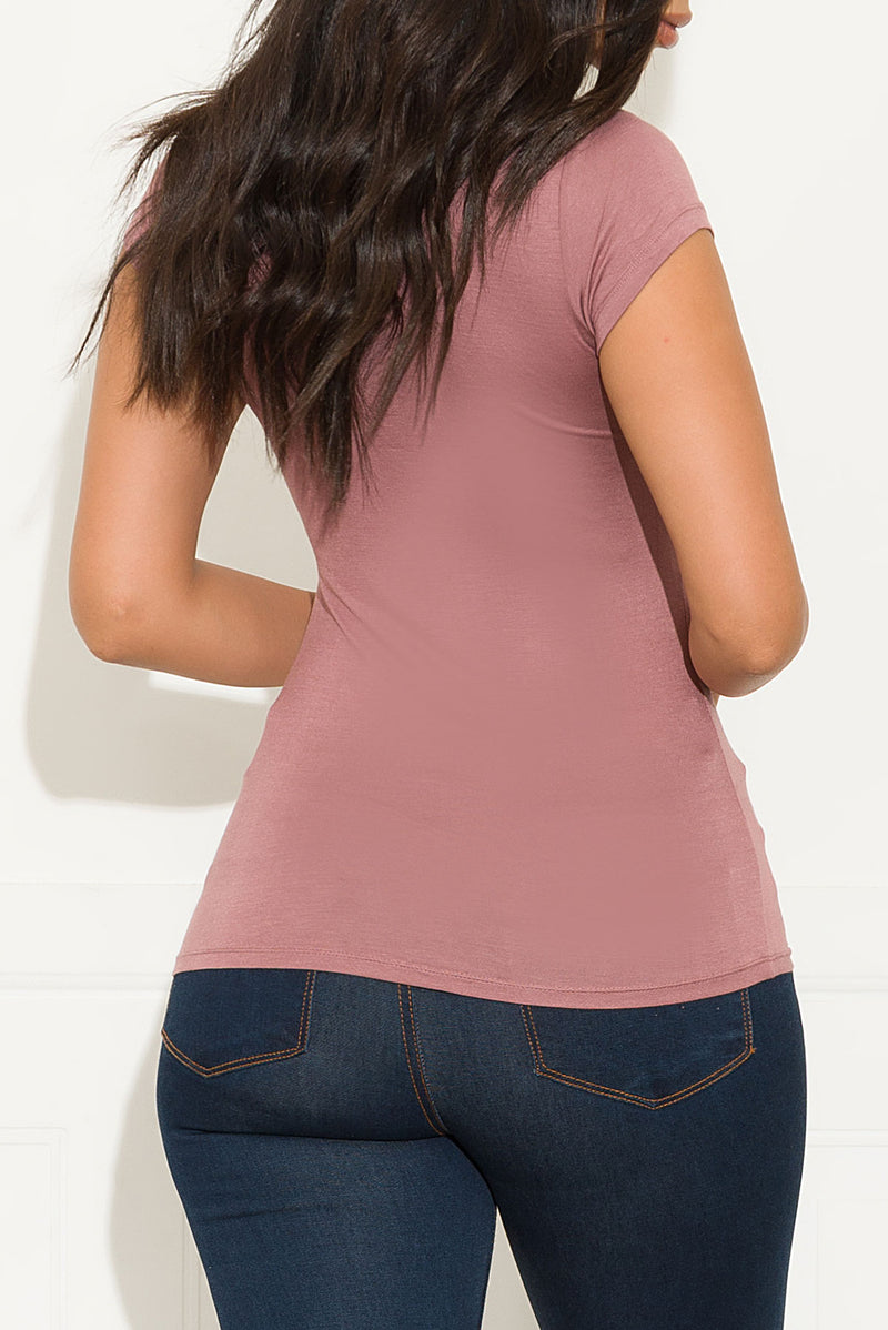 You And Me Top Mauve