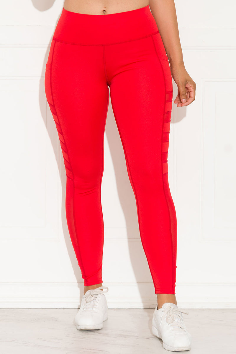 Let's Move Leggings Red