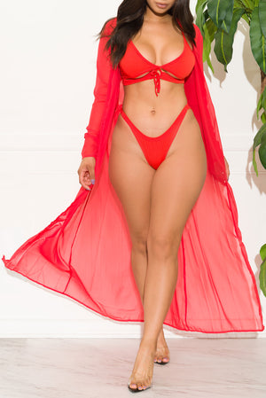 Sahara Beach Two Piece Swimsuit Set Red