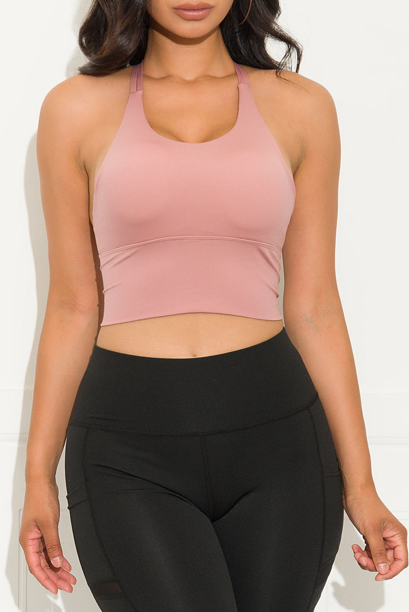Stay Focus Sport Bra Pink