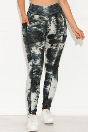 Stronger Than Ever Leggings Tie Dye Black/White