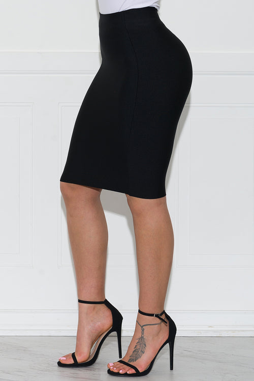 Stella Bandage Skirt- Black