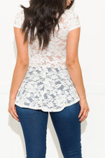 Don't Pretend Lace Blouse Off White