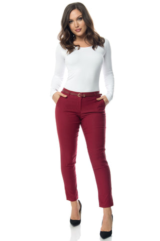 Get Down To Business Pants Burgundy - Fashion Effect Store  - 1