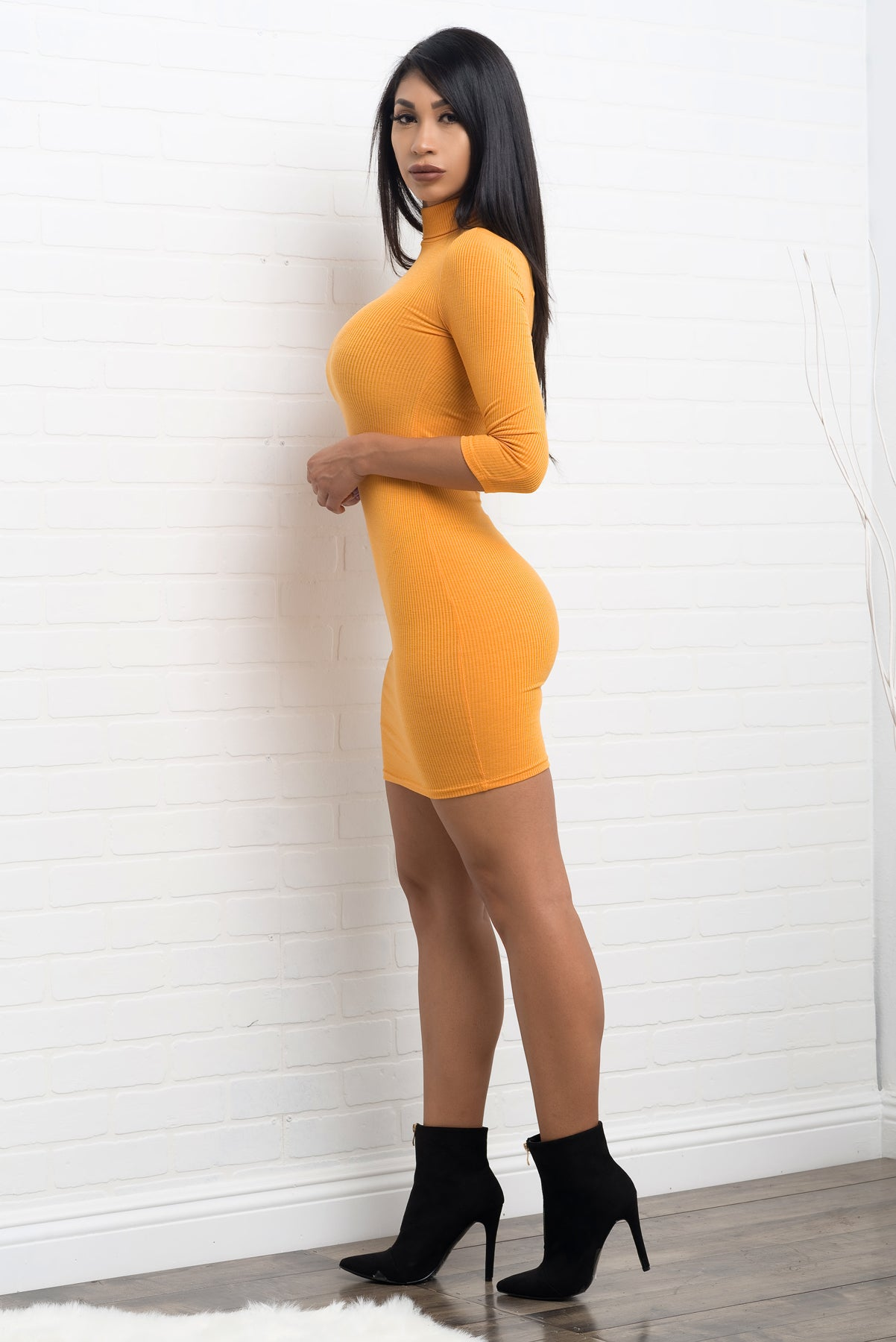 Whitney Dress - Yellow