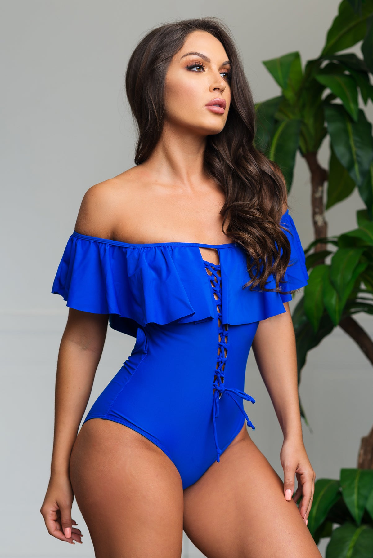 Barbados One Piece Swimsuit - Royal Blue
