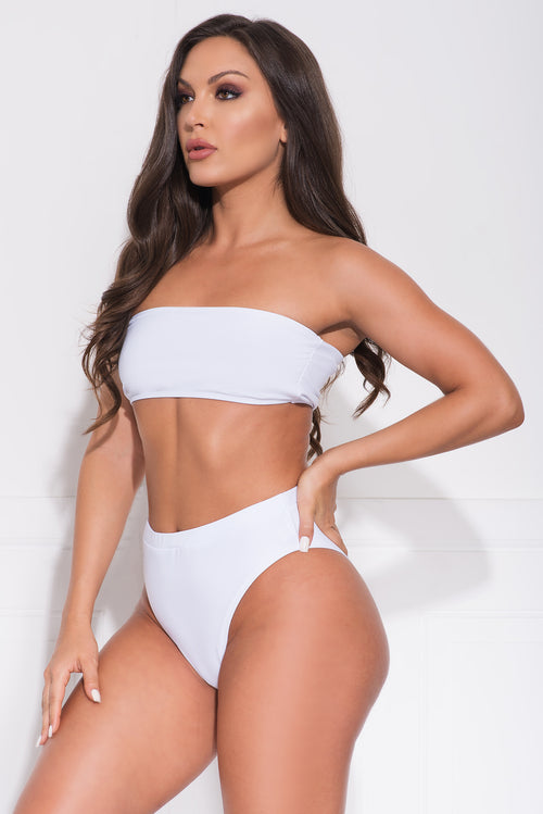 Balos Beach Two Piece Swimsuit - White