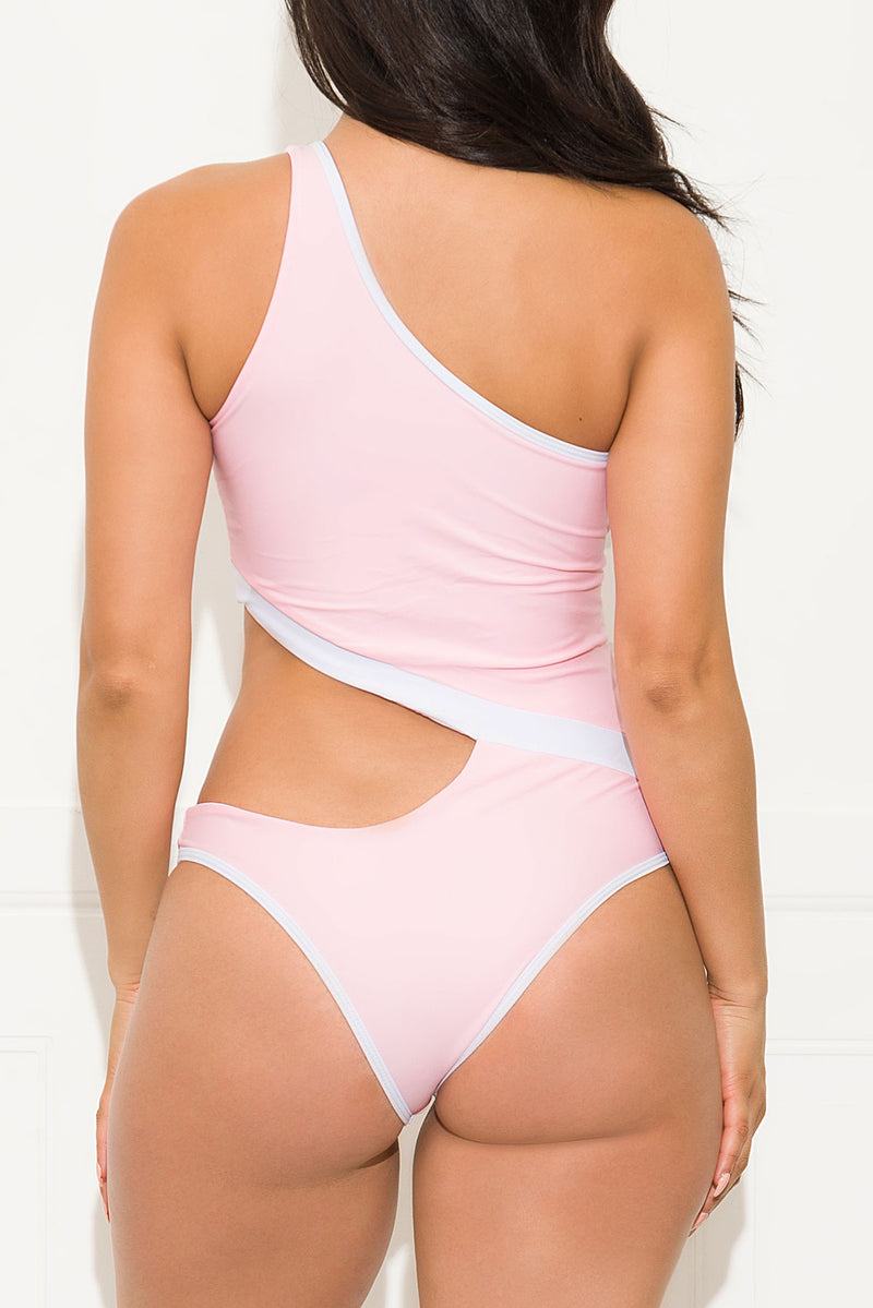 Hollywood Beach One Piece Swimsuit Pink