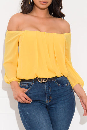 Something Different Blouse Yellow