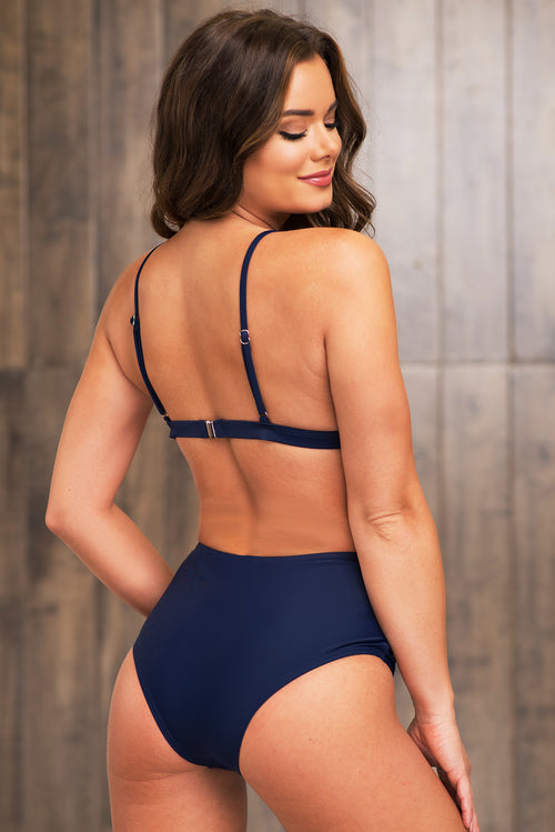 Baisha Bay Two Piece Swimsuit - Navy