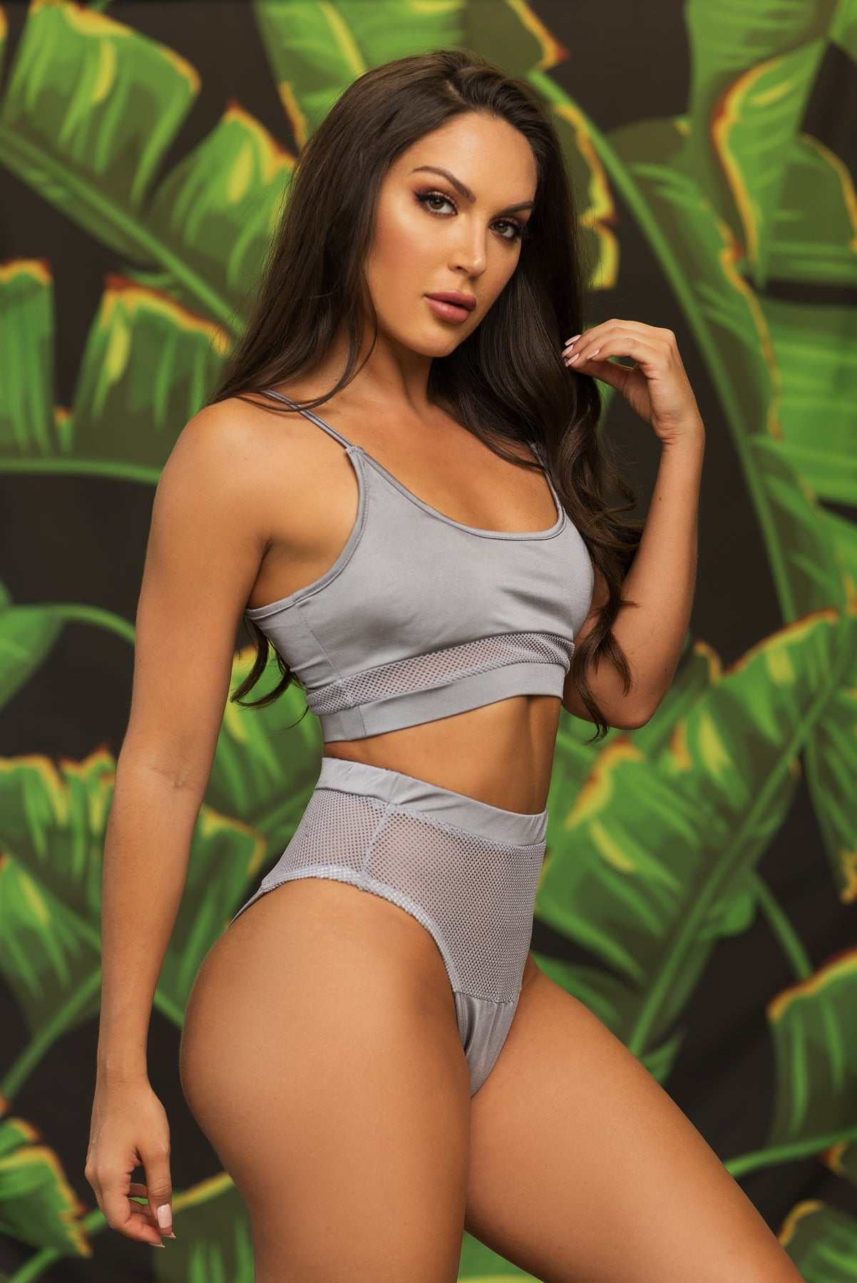 Negril Beach Two Piece Swimsuit - Grey