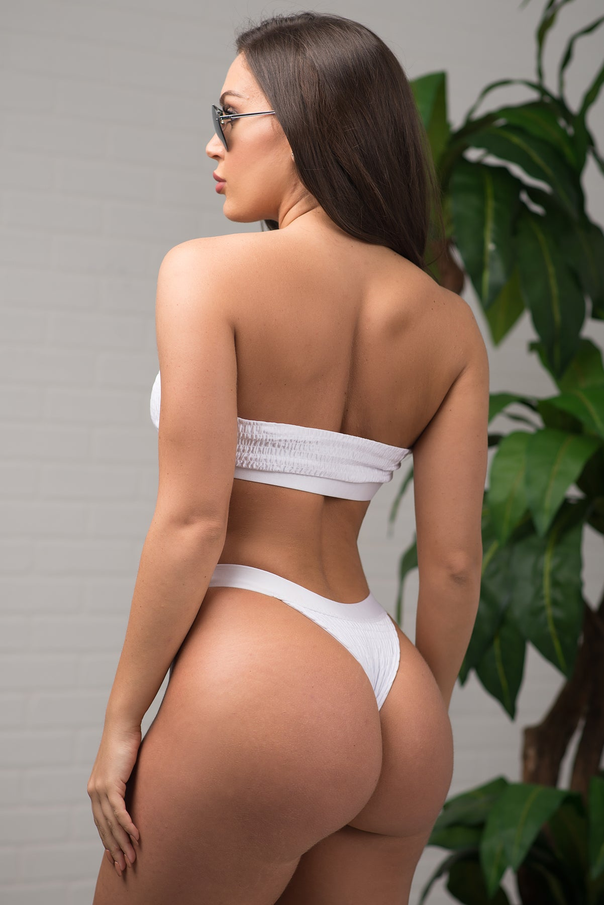 Breakwater Beach Swimsuit - White