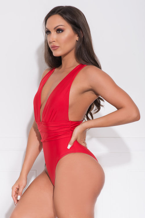 The Dark Point One Piece Swimsuit Red