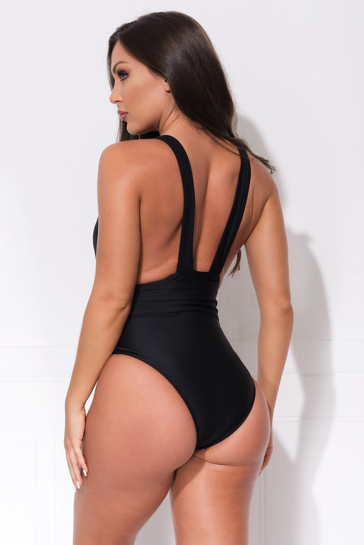 The Dark Point One Piece Swimsuit- Black