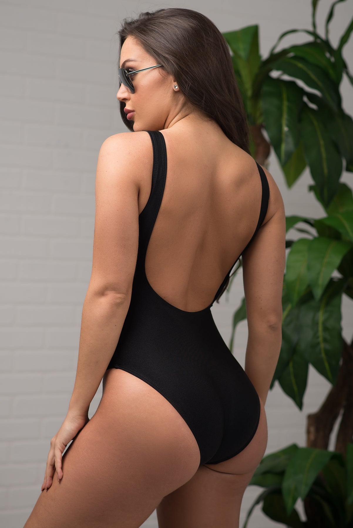 Birthday Suit One Piece Swimsuit Black