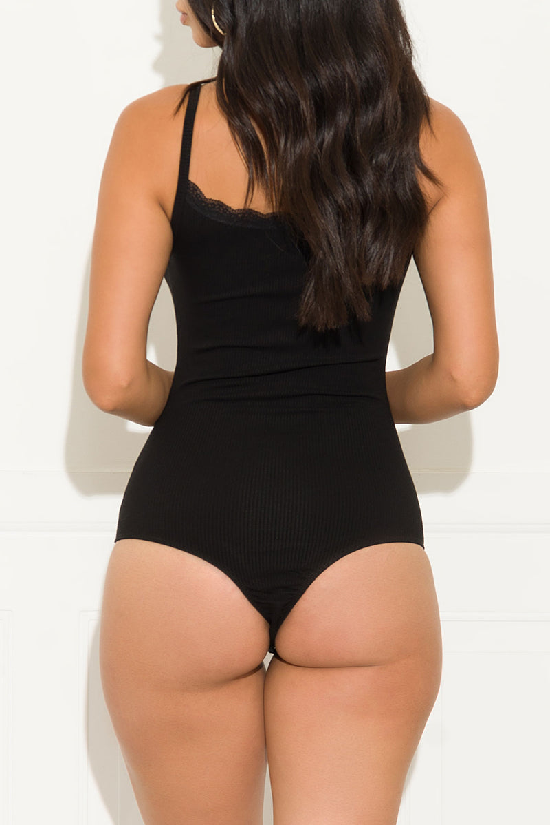 Take Your Time Bodysuit Black