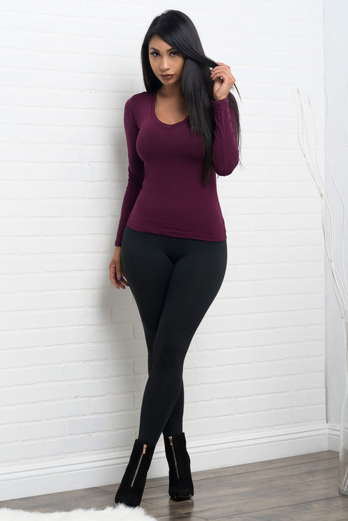 Cassandra Long Sleeve - Plum