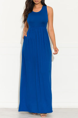Bianca Maxi Dress Royal Blue