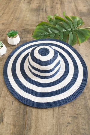 Pool Party Striped Hat Navy