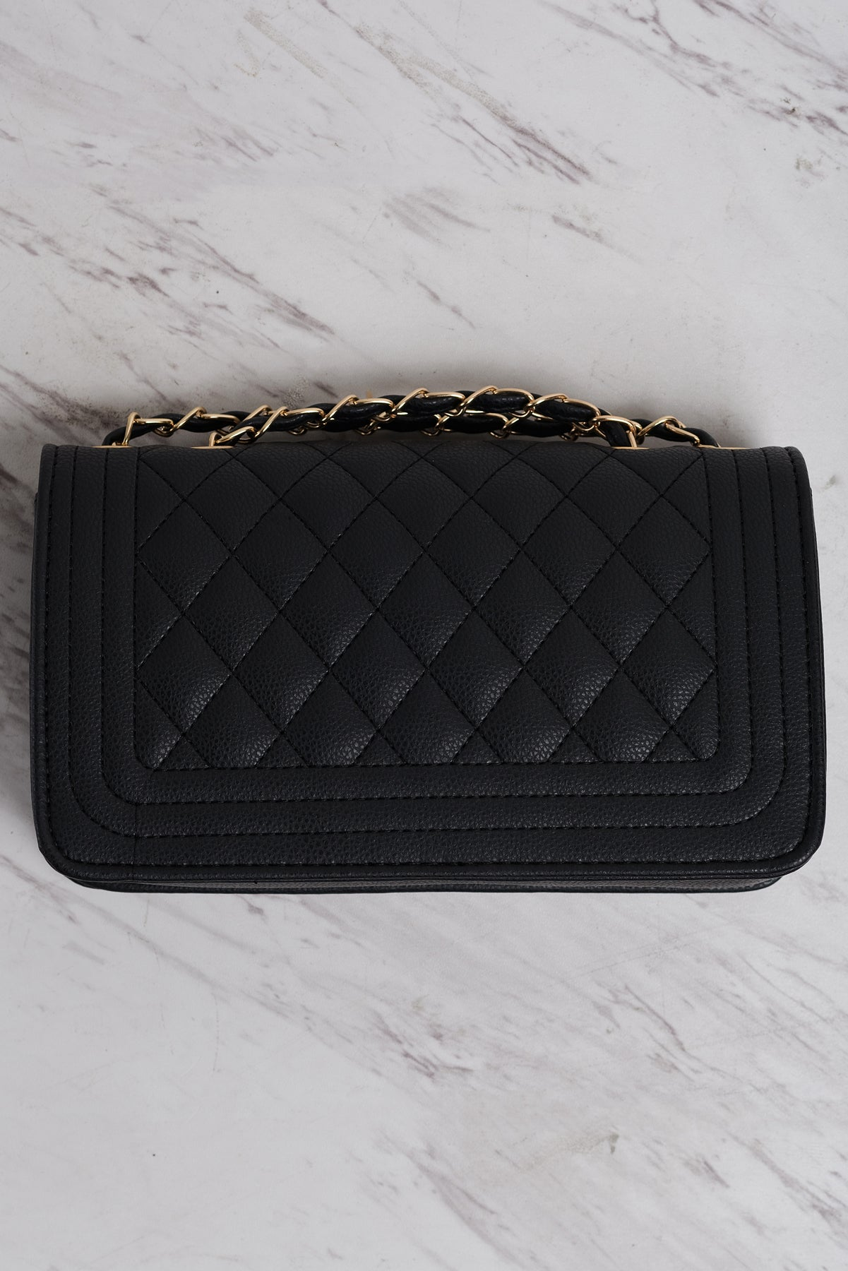 Candance Chained Purse - Black